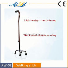 Medical equipment folding aluminum walking stick for disabled
