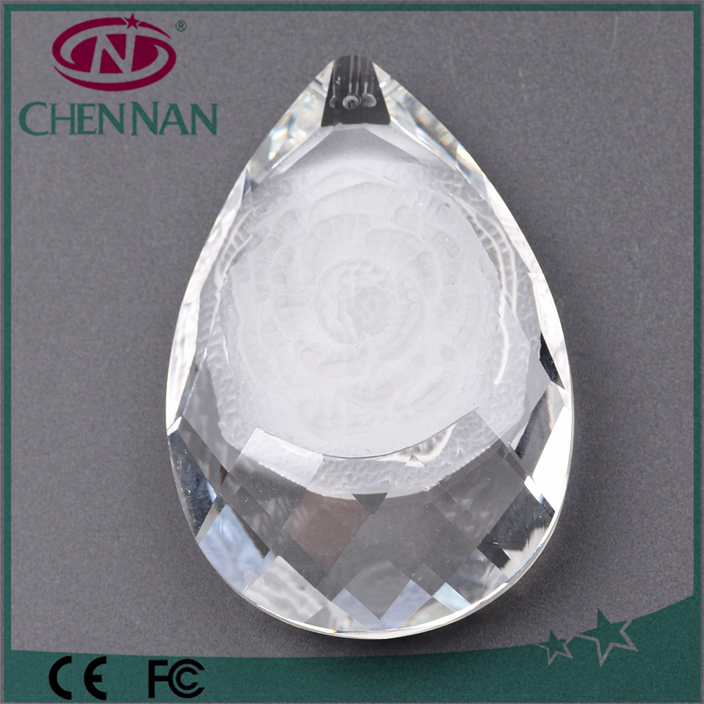 Pujiang Factory Outlet Pear Drop Glass Beads For Chandelier Pendant