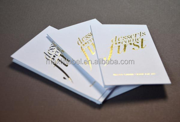 Custom logo letterpress invitation cards paper crafts