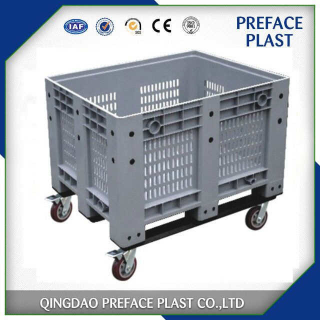 1200 x 1000mm fruit and vegetable plastic pallet storage box bins for sale