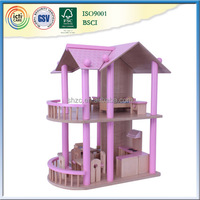 Children's toys and girls hot selling wooden doll house