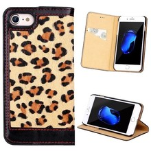 Fashionable Classic Leopard pattern Leather Case for iPhone 7