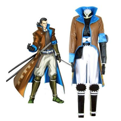 Devil Kings Sengoku Basara 2 Katakura Kojuro Halloween Cosplay Costume