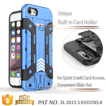Bumper kickstand card holer cell phone ccase accessories phone