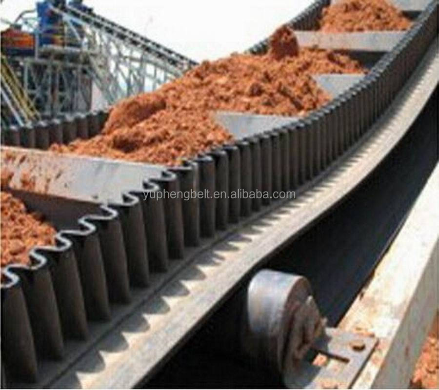 Endless Skirt Conveyor Belt With T,C,TC,TS,TCS Cleats