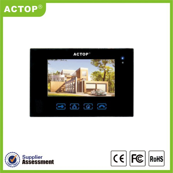 ACTOP wire gate intercom front door camera apartment building video intercom system colour screen with camera