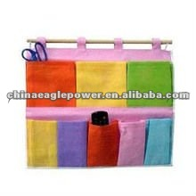multi-pouch and varied color hanging closet organizers