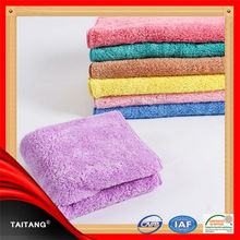 Wholesale satin border microfiber fancy 100% cotton bath chamois towel
