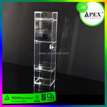counter rotated mobile phone accessories display shelf / steel shop display stand for boutique/key rings display shelves