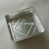 Household disposable aluminum foil pie pans
