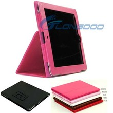 Book Leather Case for ipad2 for ipad3 Tablets Accessories Fashion Elegant Stand Holder