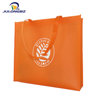Factory Price orange eco-friendly shopping non woven shoulder wine bag