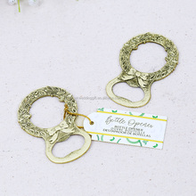 New Arrival laurel gold bottle opener favors metal wine opener party bridal shower favors wedding door gift