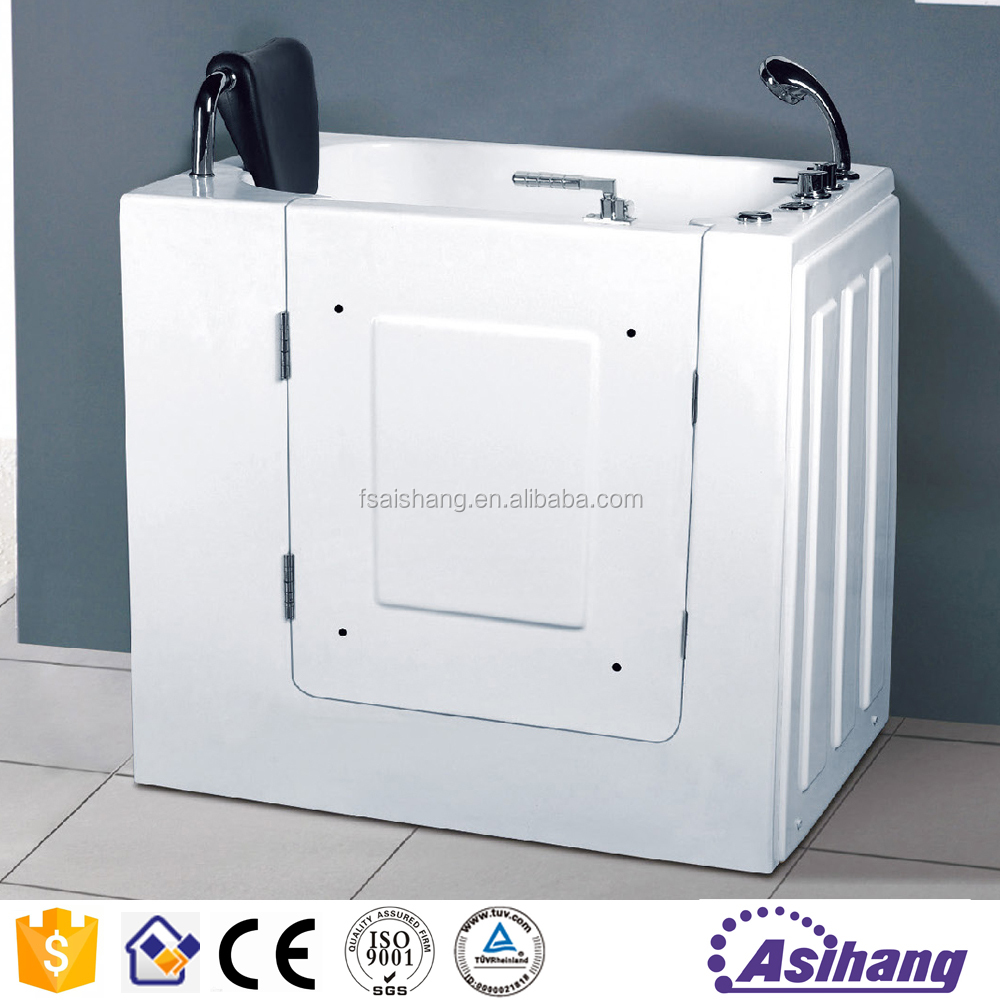AS33066 mini arcylic portable walk in bathtub for old people