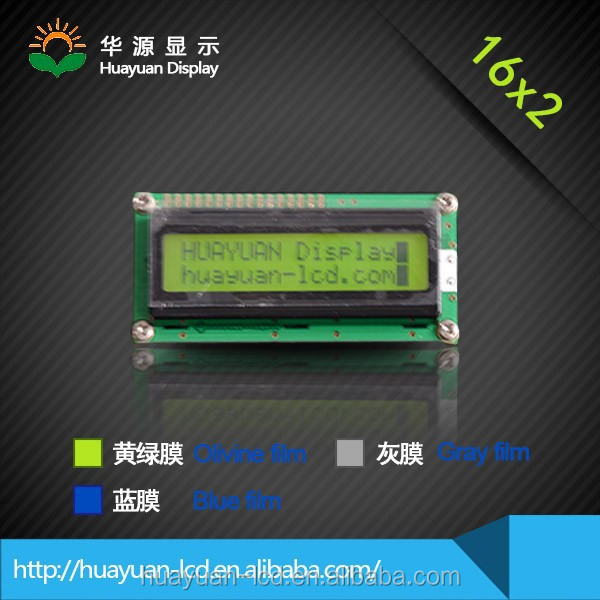flat lcd panel 1602 LCM, type 1602 lcd screen 16 character 2 lines, 1602 character COB lcd