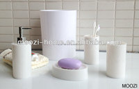 Solid Color Bathroom Accessories,Plastic Accessories Sets
