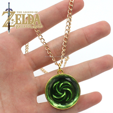 Fashion Jewelry Legend of Zelda Necklace Blue Red Heart Pendant Lovers Couple Necklace Women Men Gift