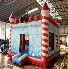 2017 New Design China Bounce House Festive Fun Kids Inflatable Christmas Bouncy Castle For Sale
