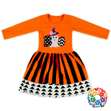Cute Baby Girl One Piece Dress Pattern Kids Holiday Shirt Dresses Designs Wholesale Boutique Halloween Children Dress For 6 Year