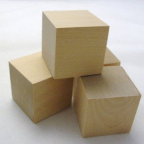2 Inch DIY Alphabet Unfinished Custom Handmade Wooden Cube Block Toy