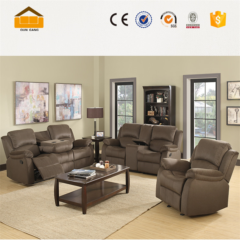 convenience cheap recliner sectional sofa set
