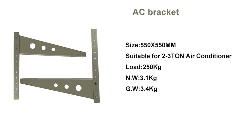 High quality ans customized split air conditioner bracket outdoor wall bracket/ac bracket for air conditioner