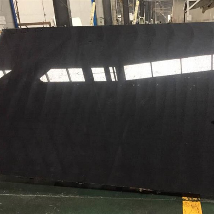 Artificial Polished Pure Black Quartz Stone Slabs