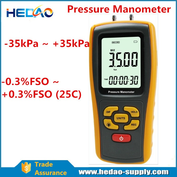 High differential pressure transmitter digital manometer 5Psi MTU-1101
