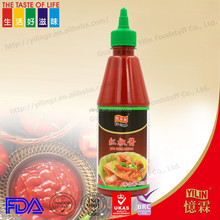435ml hight quality hot chili sauce for restaurant dinner cooking