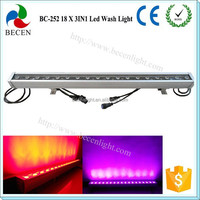 18X3W RGB 3IN1 DMX512 full color IP65 led wall washer