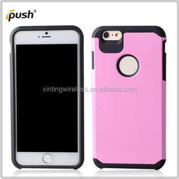 Hybrid Armor Bumper Cover Case Dual Layer Flexible TPU + Hard PC Exclusive for Apple iPhone 6 Plus
