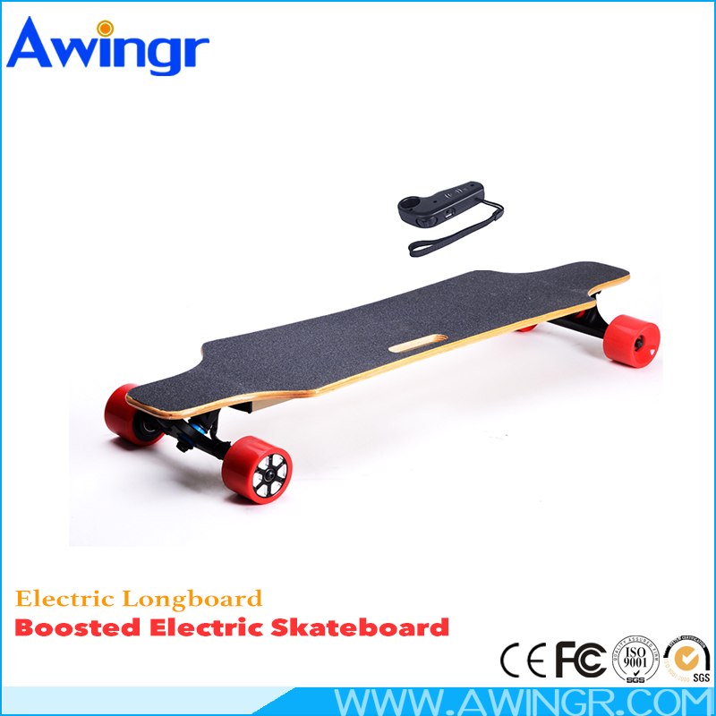 2016 latest design high quality 7 ply Maple fiberglass boosted electric skateboard motor kit