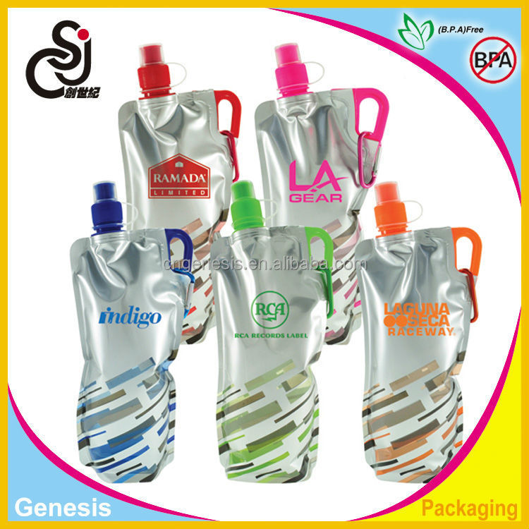 Custom nice and cute foldable water bottle/folding water bottle/collapsible BPA free water bottle with best quality
