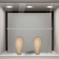 Wooden mannequin head model manikin
