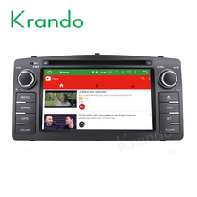 Krando Android 6.0 car radio gps for toyota corolla e120 2003-2006/BYD F3 2006-2013 car navigation car dvd player DAB+ KD-TC602