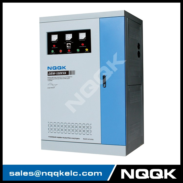 DBW 80KVA / 100KVA / 120KVA 100KW Full-Automatic Compensated 1Phase Voltage Stabilizer Regulator