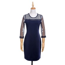 O -neck Long Sleeve See Through Elegant Beauty Sexy Women Autumn Lace Bodycon Pencil Sheath Dress