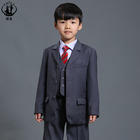 2016 hot sale! 3 piece grey suits boys formal suit boy tuxedo