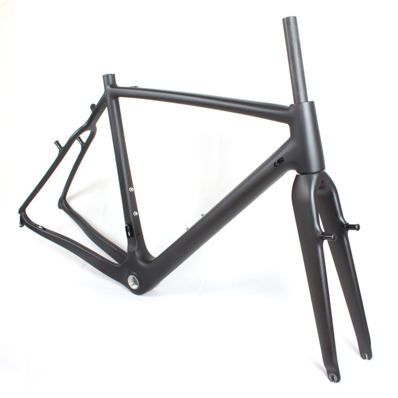 Hot sale V- brake DI2 cyclocross bicycle carbon fiber chinese road bike frame FM266