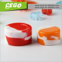 High quality customized Mini Silicone Small Cosmetic Jars For Sticky Product Container Cream Storage