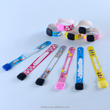 Hot sale Kids ID bracelet PVC tracking id wristband with customized logo printing in food grade material