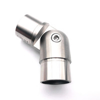 Supply stainless steel 304 adjustable elbow dull polishing staircase accessories