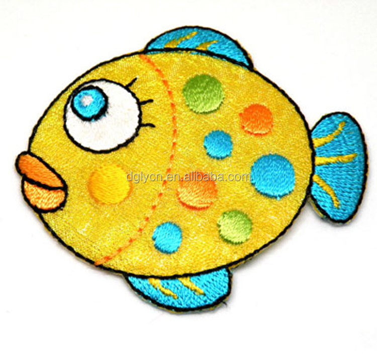 Fish Art beautiful details Iron or Sew On Patchembroidery patch