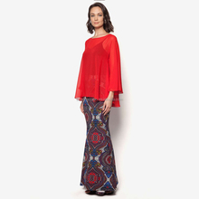 Fashion design lace baju kurung wholesale islamic clothing baju kurung peplum with women long dress