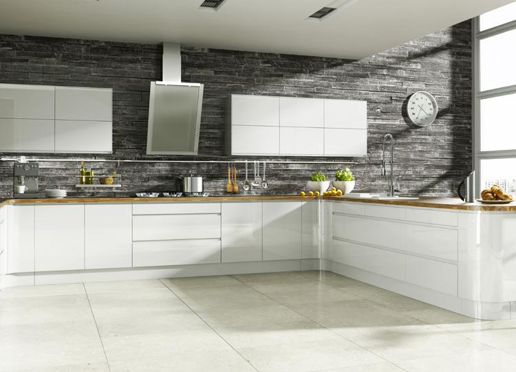 Contemporary Simple Modern L-shape Kitchen Cabinet