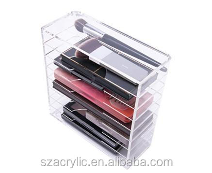 Custom acrylic clear palette organizer with removable deviders