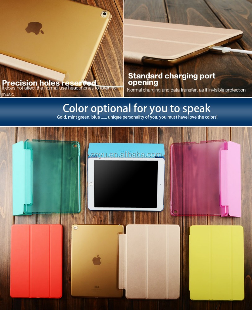 smart tablet bumper cover case for apple stand ipad air1.2 pro 9.7