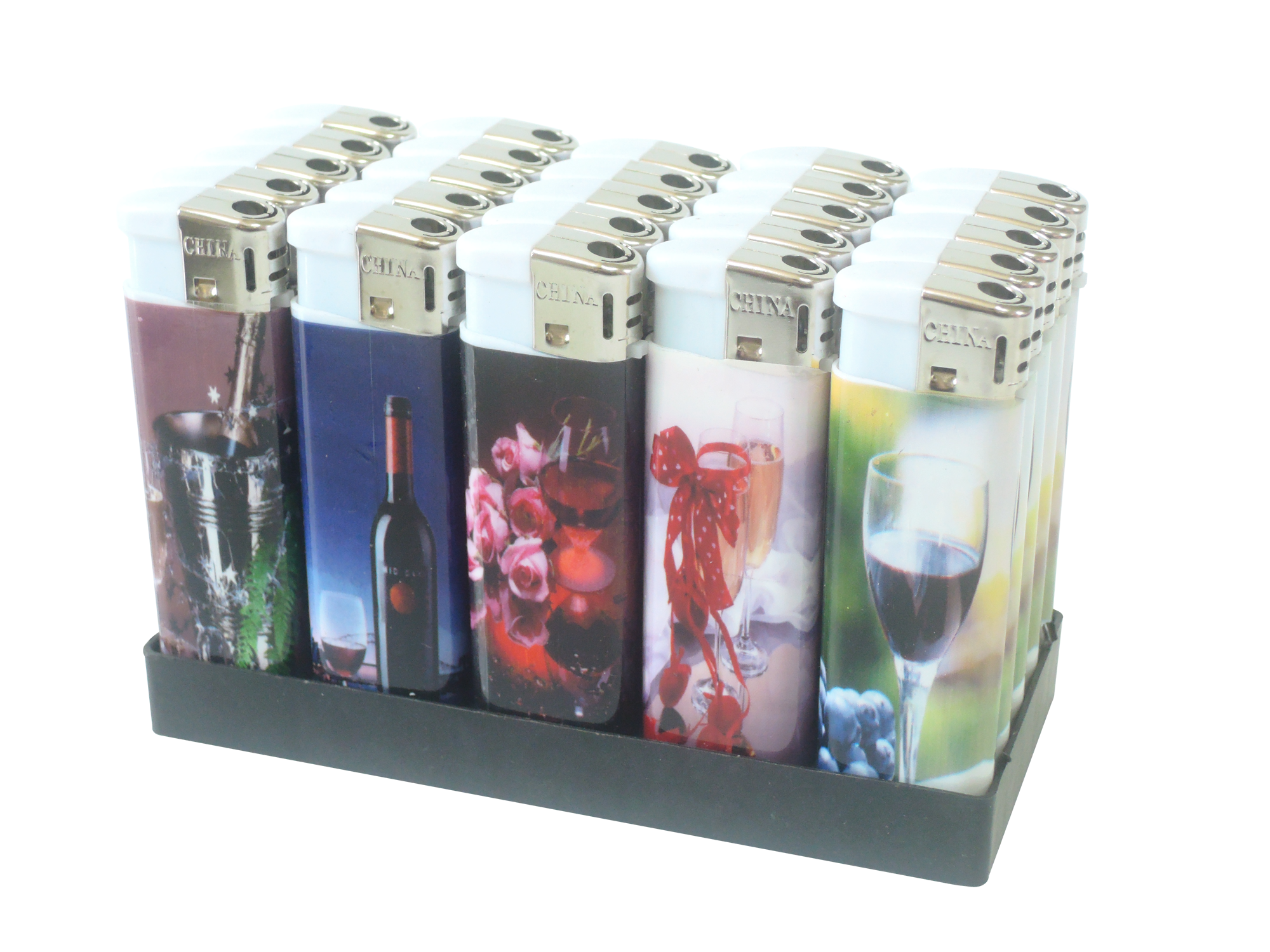Custom made beautiful sticker wrapped cheapeast wholesale print plastic lighters