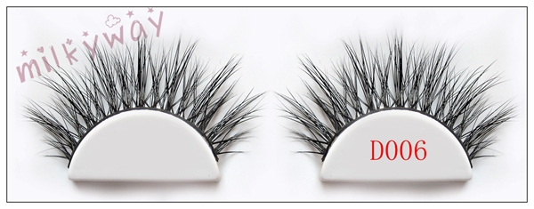 Milkyway 3D mink fur lashes crossing strip eyelashes extensions