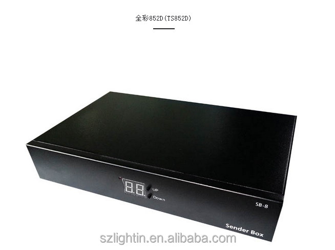 full color led display control panel box LINSN TS852D led sending box